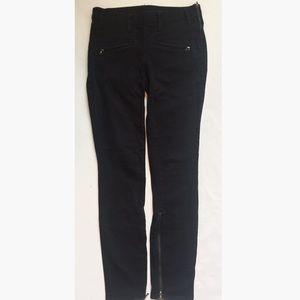 Tory Burch Super Skinny Black Zip Trouser